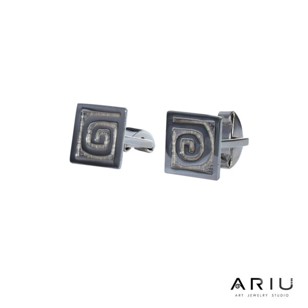 Ariu Collection - Spiral Cufflinks
