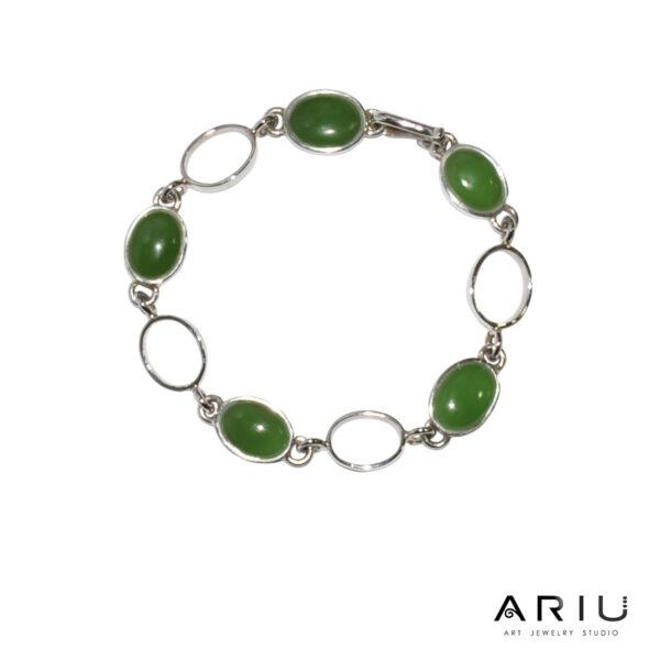 Ariu Collection - Green Seed Bracelet