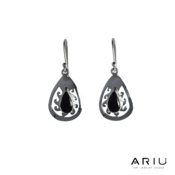 Ariu Collection - Dark Sun Earrings