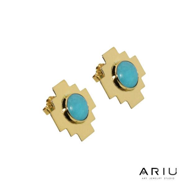 Ariu Collection - Andean Cross Earrings