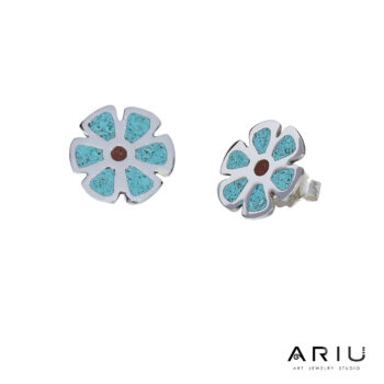 Ariu Collection - Quito's Geranium Earrings