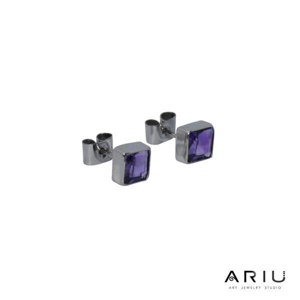 Ariu Collection - Purple Shade Earrings